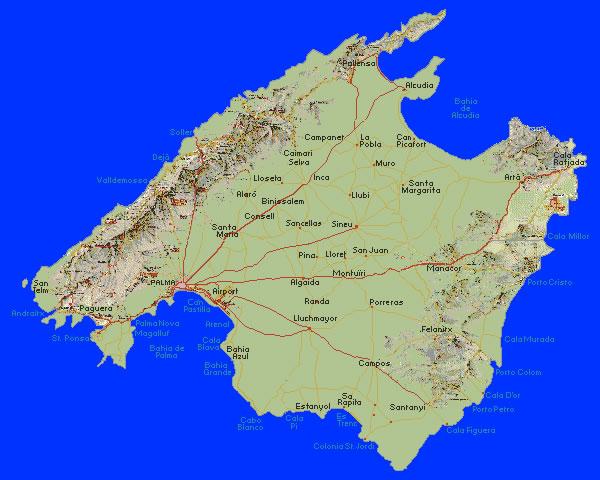 Mallorca Karte Paguera.Mallorca Der Inseltraum Im Mittelmeer