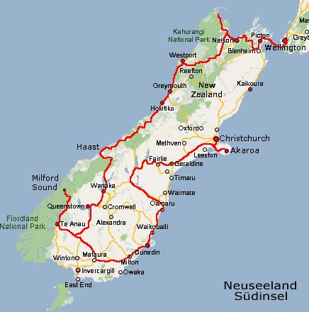 Südinsel Neuseela...