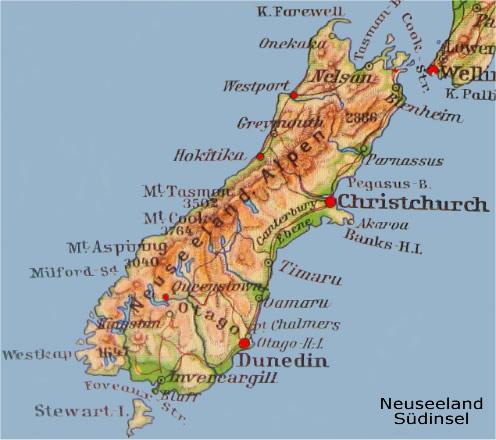 Reiserouten Neuseeland